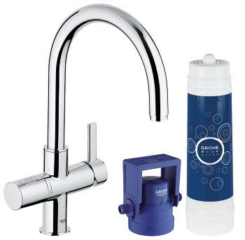 grohe grohe blue ultrasafe pure starter kit 31328 000 grohe blue pure water filter. Black Bedroom Furniture Sets. Home Design Ideas