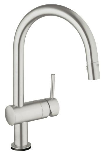 grohe minta touch pull down kitchen faucet with touch