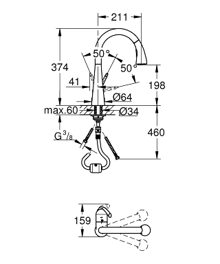 GROHE Zedra Single Lever Sink Mixer 1 2 32294 001 Search Result S