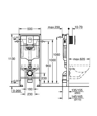 GROHE Rapid SL 3 In 1 Set For WC 38772 001 Rapid SL Installation System