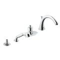 Four-Hole Bathtub Faucet with Handshower 19044 000