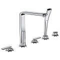Veris Five-Hole Bathtub Faucet with Handshower 19362 000
