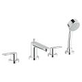 BauLoop Four-Hole Roman Bathtub Faucet with Handshower 19594 000