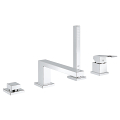 Eurocube Four-Hole Bathtub Faucet with Handshower 19897 001