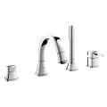 Grandera Four-Hole Bathtub Faucet with Handshower 19936 000