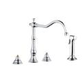 Bridgeford Three-Hole Kitchen Faucet with Side Spray 20130 000