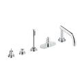 Atrio Five-Hole Roman Bathtub Faucet with Handshower 21059 000