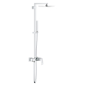 Euphoria Cube System 230 Shower system with single lever mixer for wall mounting 23147 001
