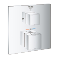 Grohtherm Cube Thermostatic bath tub mixer for 2 outlets with integrated shut off/diverter valve 24155 000