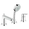 BauLoop 3-hole bath/shower combination 25116 000