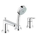 BauEdge 3-hole bath/shower combination 25117 000