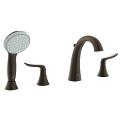 Four-Hole Roman Bathtub Faucet with Handshower