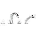 Geneva Four-Hole Roman Bathtub Faucet with Handshower 25506 001