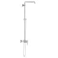 Shower system with single lever mixer for wall mounting 26240 000