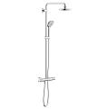 Euphoria System 180 Shower system with thermostat for wall mounting 26369 000