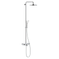 Shower system with bath thermostat for wall mounting 26510 000