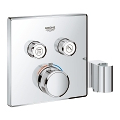 Grohtherm SmartControl Thermostat for concealed installation with  2 valves and integrated shower holder 29125 000