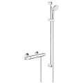 "Grohtherm 1000 Thermostatic shower mixer 1/2"" with shower set 34256 004"
