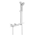 "Grohtherm 1000 Cosmopolitan M Thermostatic shower mixer 1/2"" with shower set 34286 002"