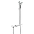 "Grohtherm 1000 Cosmopolitan M Thermostatic shower mixer 1/2"" with shower set 34321 002"