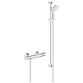"Grohtherm 800 Thermostatic shower mixer 1/2"" with shower set 34566 001"