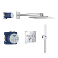 Grohtherm SmartControl Perfect shower set withRainshower SmartActive 310 Cube 34706 000