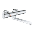 Eurosmart Cosmopolitan E Special Infra-red electronic wall basin mixer with thermostatic temperature control 36454 000