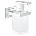Allure Brilliant Soporte con dispensador  de jabón de cristal satinado 40494 000