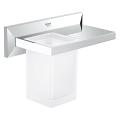 Allure Brilliant Bathroom Shelf with Tumbler 40503 000