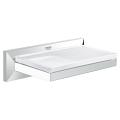 Allure Brilliant Soap Dish with Shelf 40504 000