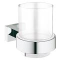 Essentials Cube Crystal glass with holder 40755 001