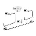 Essentials Cube Master bathroom accessories set 5-in-1 40758 001