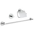 Essentials Guest bathroom accessories set 3-in-1 40775 001