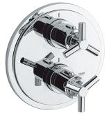 Atrio Thermostat with integrated 2-way diverter  for bath or shower with more than one outlet 19395 000
