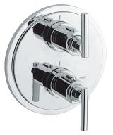 Atrio Thermostat with integrated 2-way diverter  for bath or shower with more than one outlet 19399 000