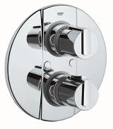 Grohtherm 2000 Thermostat with integrated 2-way diverter for bath or shower with more than one outlet 19355 000