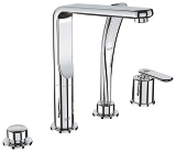 Veris Four-Hole Bathtub Faucet with Handshower 19373 000