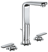 Veris Three-hole basin mixer 1/2