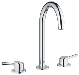 Concetto Three-hole basin mixer 1/2