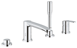 Eurostyle Cosmopolitan Four-Hole Bathtub Faucet with Handshower 23048 003
