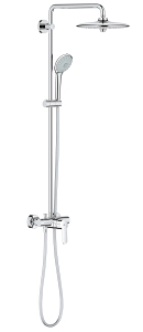 Euphoria System 260 Shower system with single lever mixer for wall mounting 27473 001