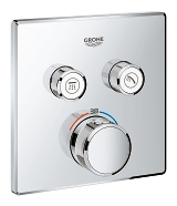 Grohtherm SmartControl Thermostat for concealed installation with 2 valves 29124 000