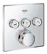 Grohtherm SmartControl Triple Function Thermostatic Trim with Control Module 29142 000