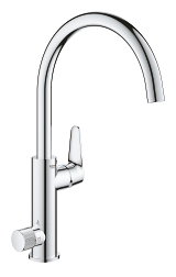 GROHE Blue Pure BauCurve Single-lever sink mixer with filter function 31723 000