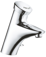 Eurodisc SE Self-closing basin mixer with mixing device  and adjustable temperature limiter 36233 000