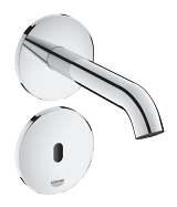 Essence E Infra-red electronic wall basin tap without mixing device 36447 000