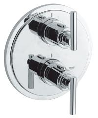 Atrio Thermostat with integrated 2-way diverter for bath or shower with more than one outlet 19399000