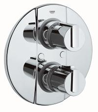 Grohtherm 2000 Thermostat with integrated 2-way diverter for bath or shower with more than one outlet 19355000