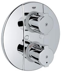 Grohtherm 2000 Special Thermostat with integrated 2-way diverter  for bath or shower with more than one outlet 19417000