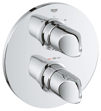 Veris Thermostat with integrated 2-way diverter for bath or shower with more than one outlet 19364000